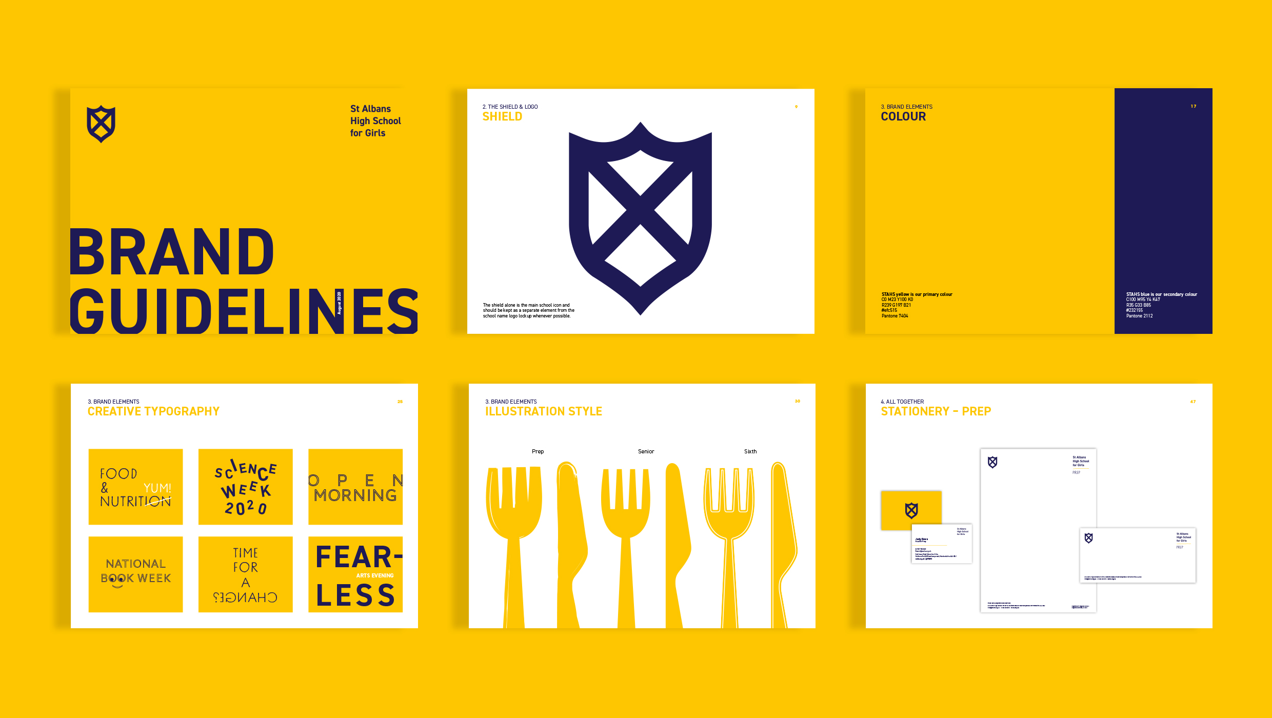 A word-centric brand for St Albans High School for Girls